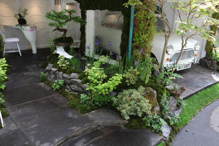 英国チェルシーフラワーショーの庭