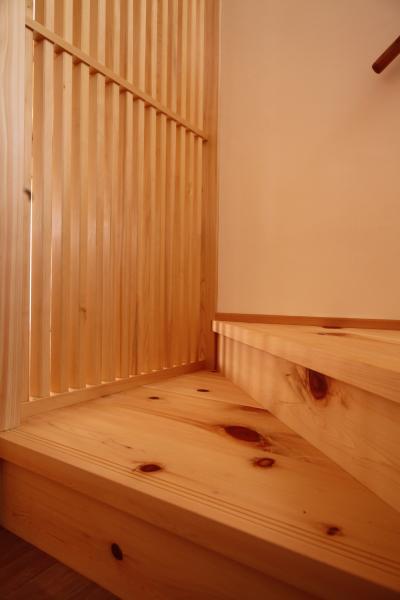 木の家の階段についての画像です。