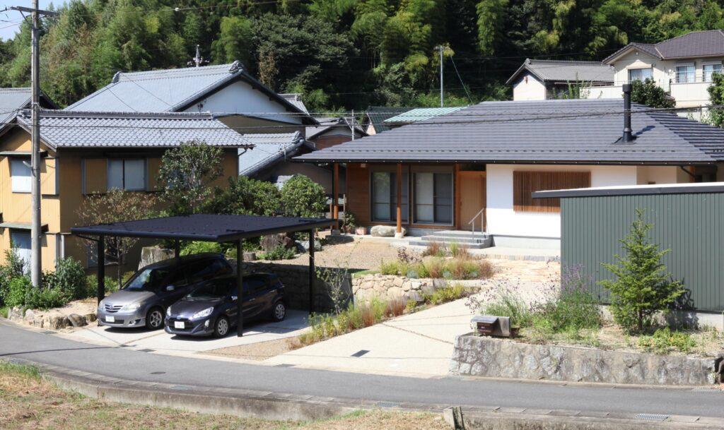 豊田市の寄棟の平屋の家