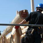 木組みの家の大工さん