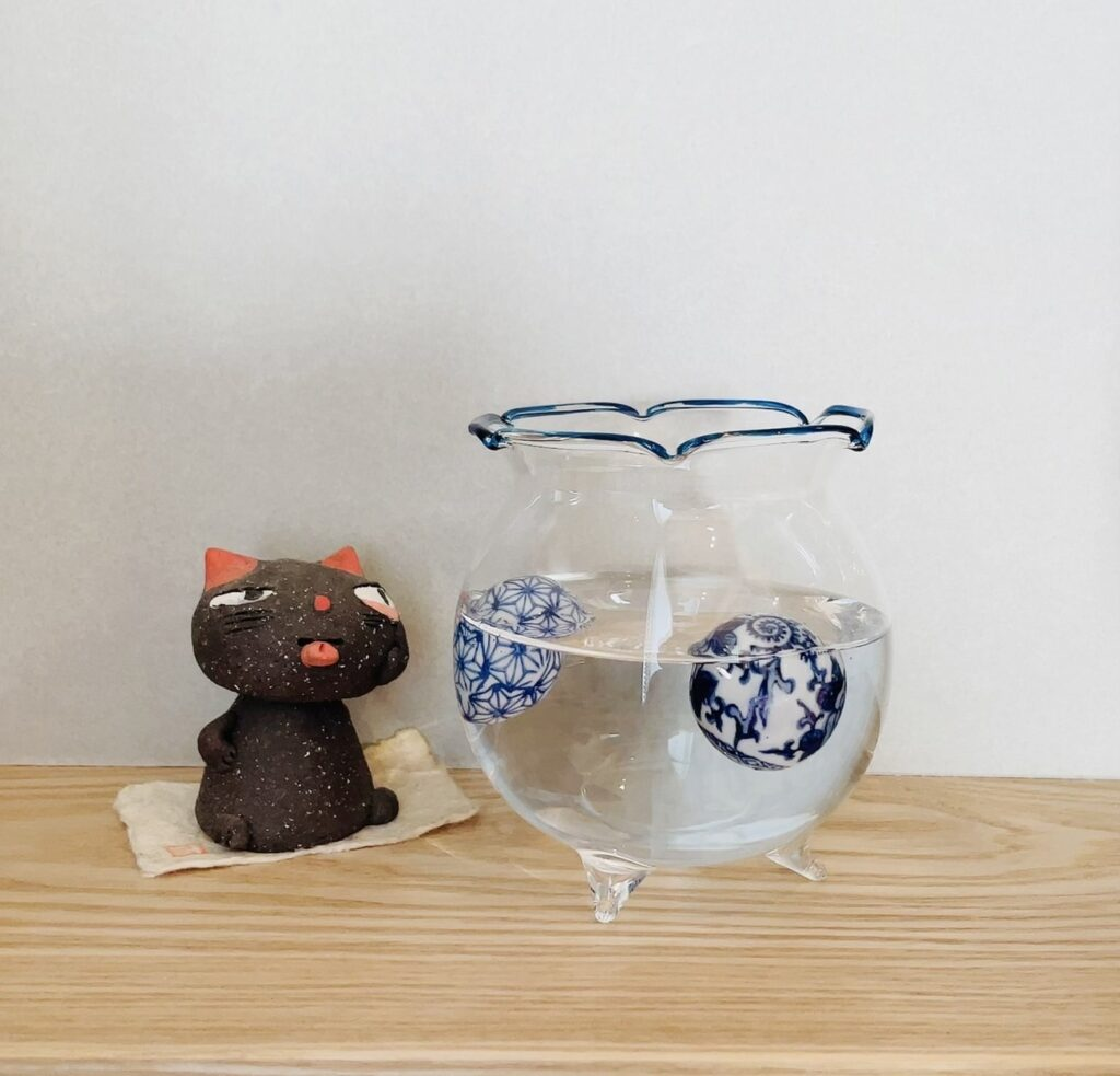 陶器の浮き球